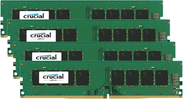 Crucial 16GB DDR4 PC17000 CL15 UDIMM KIT OF 4 CT4K4G4DFS8213