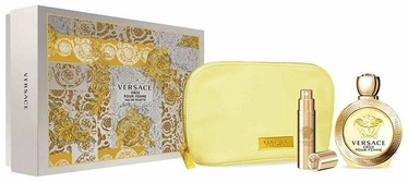 Komplekt naistele Versace Eros Pour Femme 100 ml EDT + 10 ml EDT + Cosmetic Bag