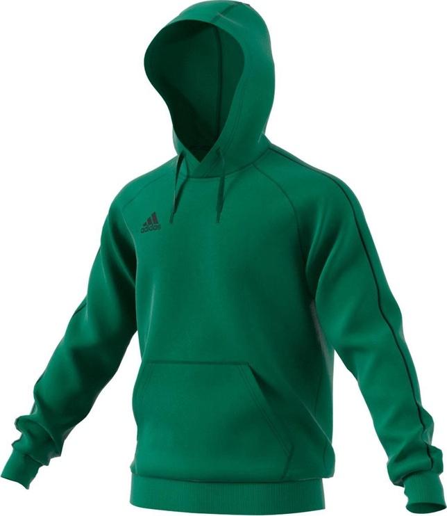 Adidas Mens Core 18 Hoodie FS1894 Green M