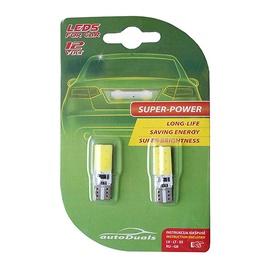AutoDuals LED T10 Canbus Light Bulb White 2pcs