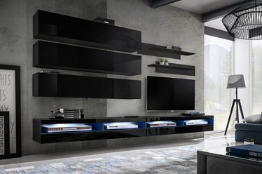 ASM Fly U4 Living Room Wall Unit Set Black