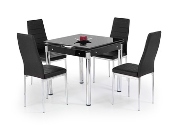Обеденный стол Halmar Kent Black/Chrome, 1300x800x760 мм