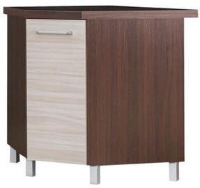 Bodzio Loara Bottom Corner Cabinet With Basket Latte/Nut