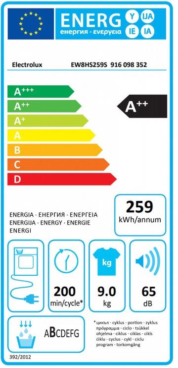 Kuivati Electrolux EW8HS259S