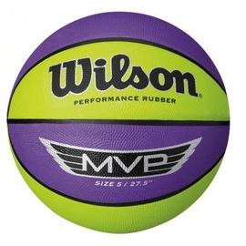 Wilson MVP Basketball Size 5 Purple/Yellow