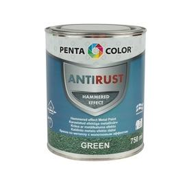 Pentacolor Enamel Paint Universal Antirust Hammered Effect 0.75l Green