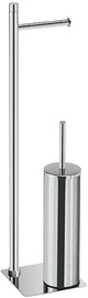 Gedy Trilly Bathroom Butler Paper And Toilet Brush Holder Chrome