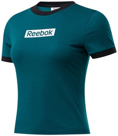 Reebok Womens Training Essentials Linear Logo Slim Shirt FK6679 Green L