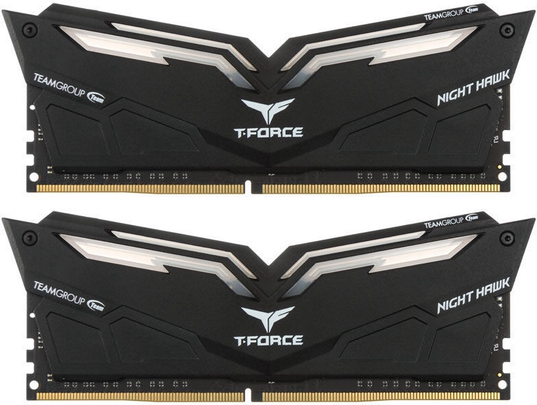 Team Group T-Force Nighthawk White RGB 16GB 3000MHz CL16 DDR4 KIT OF 2 THWD416G3000HC16CDC01