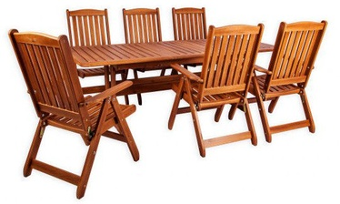 Folkland Timber Folding Garden Set Bavaria 6 Brown