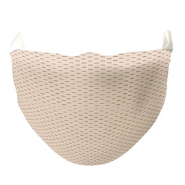 TakeMe Antibacterial 2-Layer Washable Slim Fit Face Mask /w Silver iOns Beige