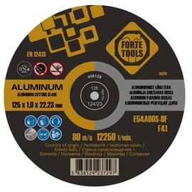 Forte Tools Metal Cutting Disc Alu 125x1x22mm