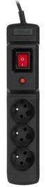 ActiveJet Surge Protector 3 Outlet Black 2.5m
