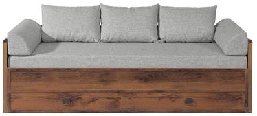 Lastevoodi Black Red White Indiana Sutter Oak/Grey, 202x154 cm
