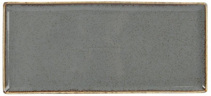 Porland Seasons Serving Plate 16.1x35.3cm Dark Grey