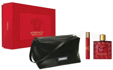 Versace Eros Flame 100ml EDP + 10ml EDP + Cosmetic Bag