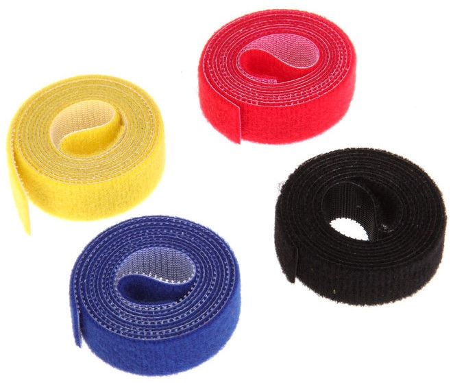 Label The Cable Double-Sided Velcro Roll 4 x 1m Mixed Colors