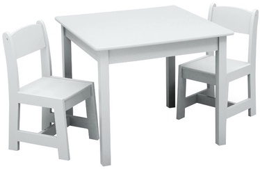 Delta Children MySize Table & Chairs Set White