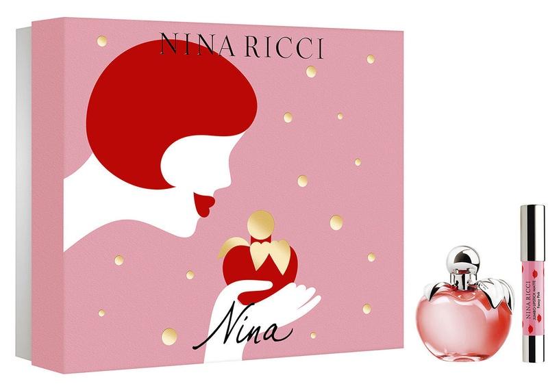 Nina Ricci Nina 80ml EDT + Jumbo Lipstick Matte Fancy Pink 2018