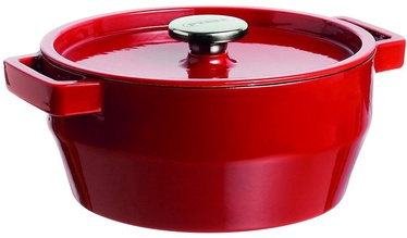 Pyrex SlowCook Round Cast Iron Casserole 20cm 2.2L Red