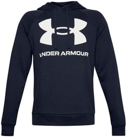 Under Armour Rival Fleece Big Logo Hoodie 1357093-410 Navy Blue L