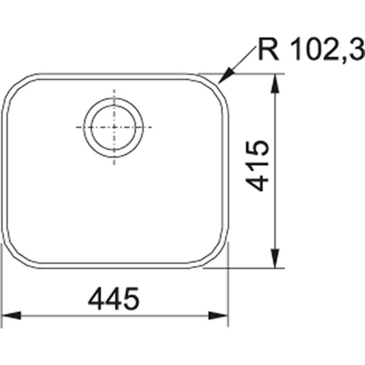 Roostevabast terasest valamu Franke Quadrant, QAX 210, SlimTop