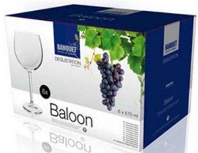 Banquet Crystal Baloon Glass Set 6pcs 57cl