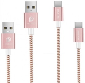 Dux Ducis KII Premium USB To USB Type-C Cables Pink