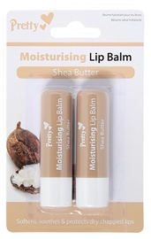 Pretty Moisturising Lip Balm Shea Butter 2x4.3ml