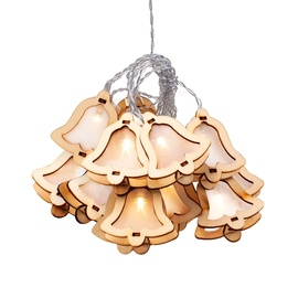 Jõulutuled DecoKing Crala Wooden Bell LED, 10 tk