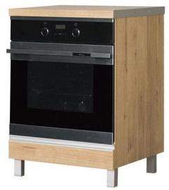 Нижний кухонный шкаф Bodzio Monia Oven 60 Brown, 600x520x820 мм