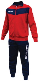 Givova Visa Tracksuit Red Navy S