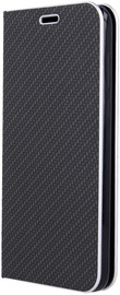 OEM Smart Venus Carbon Book Case For Samsung Galaxy A41 Black