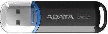USB mälupulk ADATA C906 Black, USB 2.0, 8 GB