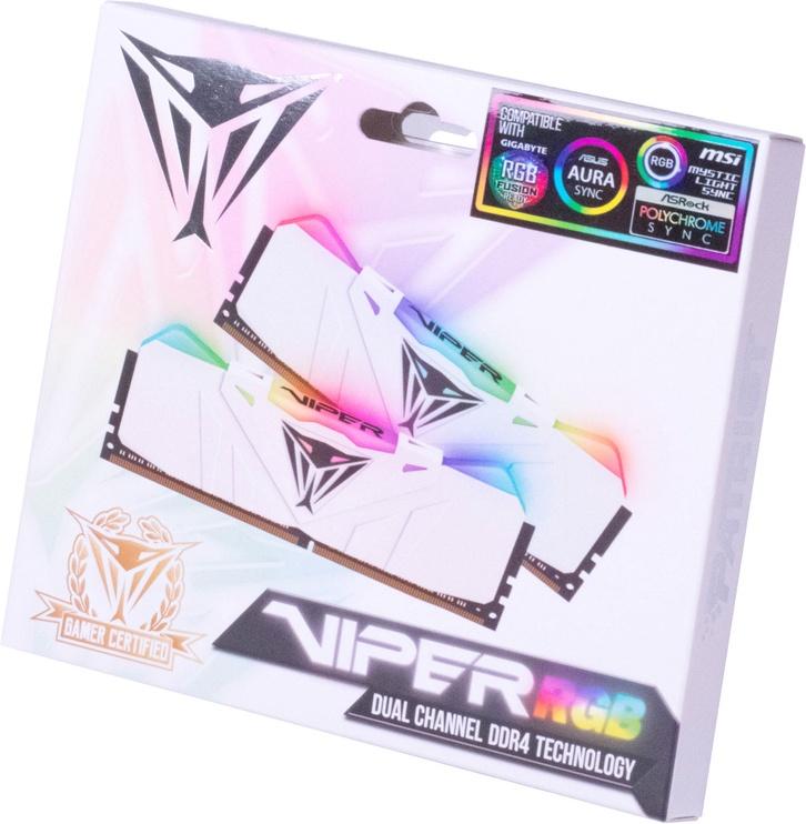 Patriot Viper RGB DDR4 White 16GB 3200MHz CL16 DDR4 KIT OF 2 PVR416G320C6KW