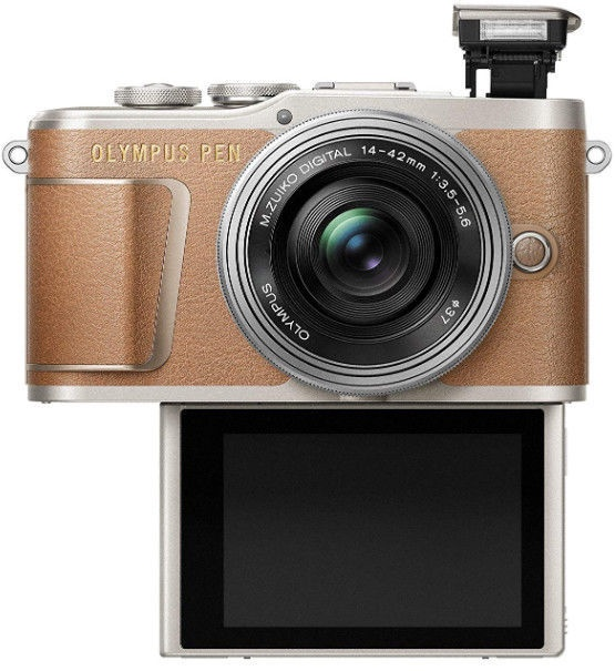 Olympus PEN E-PL9 Body Brown + EZ-M1442EZ Silver