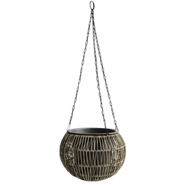 Home4you Wicker Hanging Flowerpot D32x22cm Brown