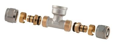 TDM Brass Demountable Threaded Tee 1/2''x18mm 1455E