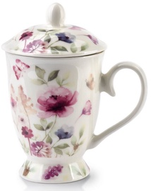 Mondex Iris Cup With Infuser White 320ml