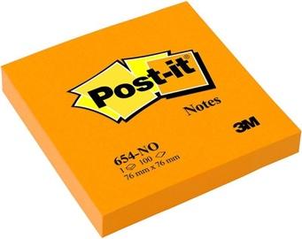 3M Post-It Notes 654-N 100pcs Neon Orange