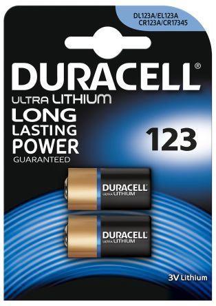Duracell Ultra Lithium 123 Battery 2x
