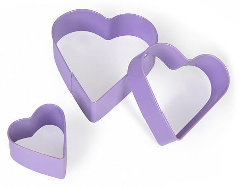 Fissman Heart Cookie Cutters 3pcs