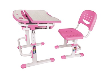 Письменный стол Lumi Legend C304 Pink/White