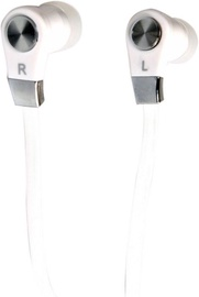 Media-Tech MagicSound DS-2 Earphones w/Mic White