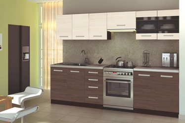 Кухонный гарнитур Halmar Amanda 2 Wenge/Oak/Granite, 2.6 м