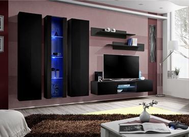 ASM Fly P4 Living Room Wall Unit Set Black