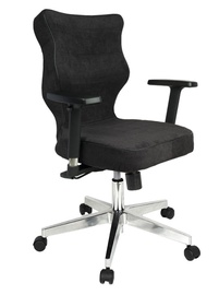 Entelo Nero Poler Chrome Office Chair AT01 Black