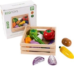 Mängutoit EcoToys Wooden Chopping Vegetables
