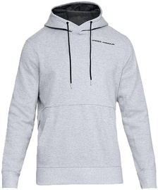 Under Armour Mens Pursuit Microthread Pullover Hoodie 1317416-035 Light Grey L
