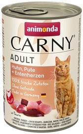 Animonda Carny Adult Chicken & Turkey & Duck Hearts 400g